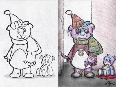 Как выглядят безобидные детские раскраски в руках взрослых