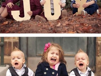 Неудачные фотосессии  детей