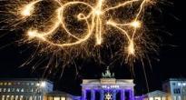 Новогодний салют В Берлине (Германия)