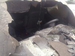 В центрі Новоград-Волинського спалили автомобіль