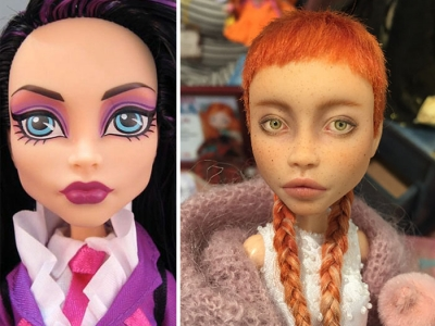 Как преображаются безликие куклы в руках мастера